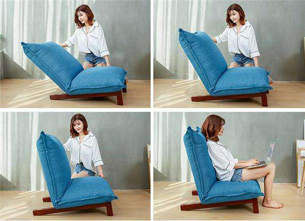 Japanese Style Low Profile Floor Recliner
