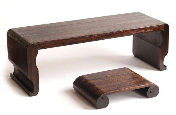 Japanese Coffee Table.Ornate Japanese Style Wood Narrow Coffee Table