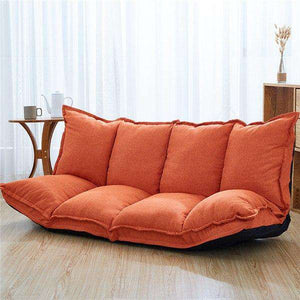 Modern Folding Floor Sofa & Sleeper - Linen