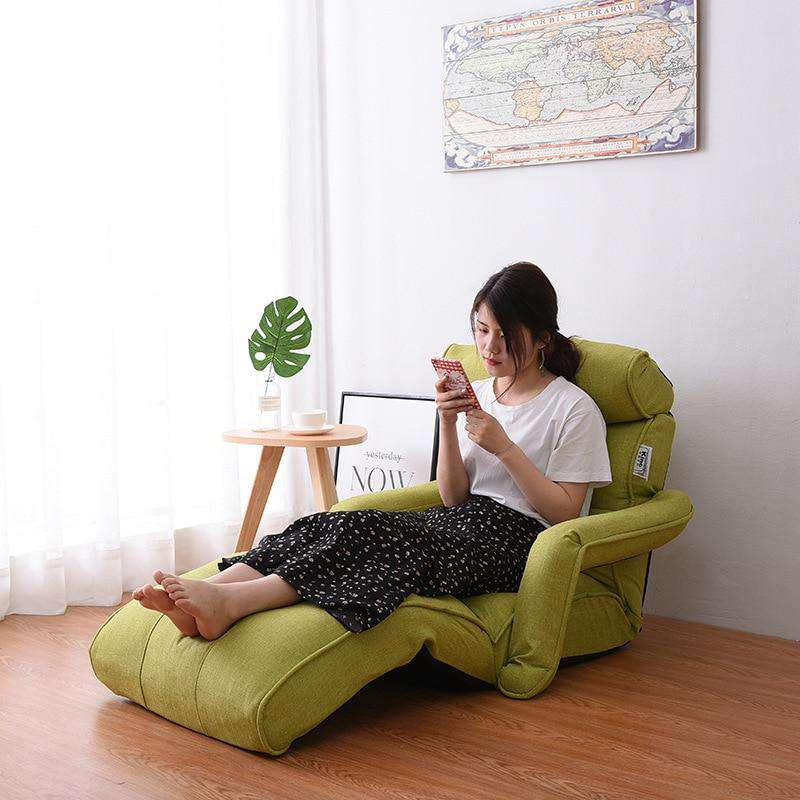 the WAYHILL | Japanese Folding Floor Chaise Lounge Chair & Recliner