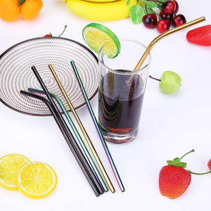 3ct. Reusable Metal Drinking Straws