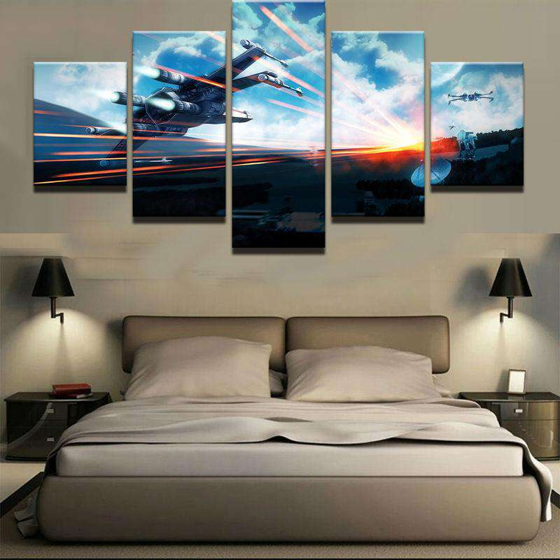 Star Wars 5 Piece Wall Art | X-Wing Attack