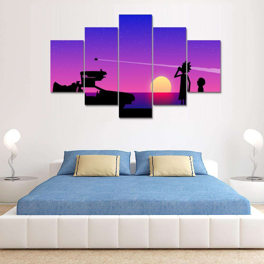 Rick And Morty Wall Art | Sunset On Centurian 9