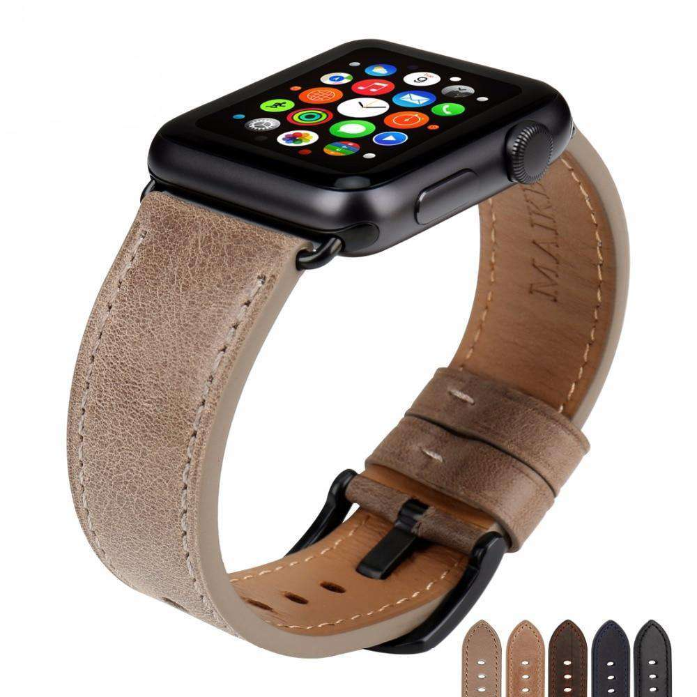 the DODGE | Leather Apple Watch Band | 42mm 38mm / 44mm 40mm