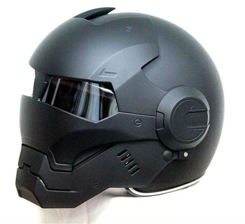 Iron Man Mark 2 Motorcycle Helmet - Graphite