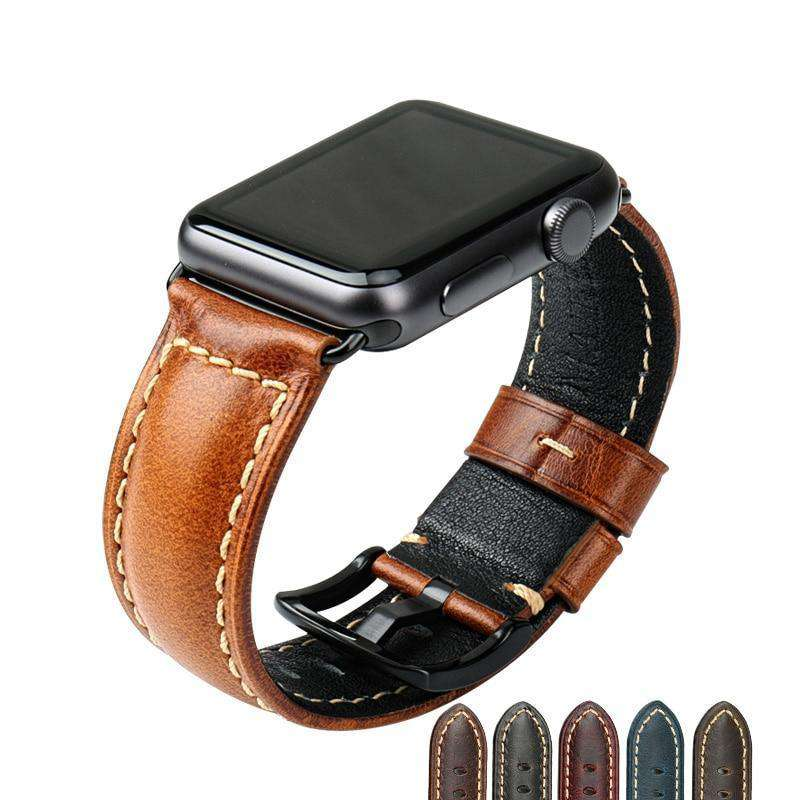the KANE | Oil Wax Leather Apple Watch Band | 42mm 38mm / 44mm 40mm