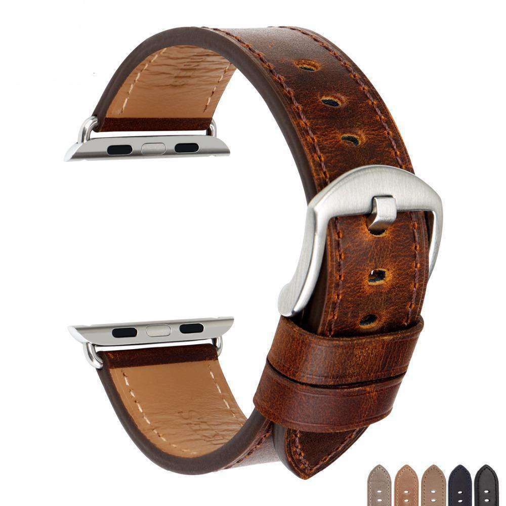 the DRISKELL | Leather Apple Watch Band | 42mm 38mm / 44mm 40mm