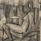 Charcoal Reclining Woman