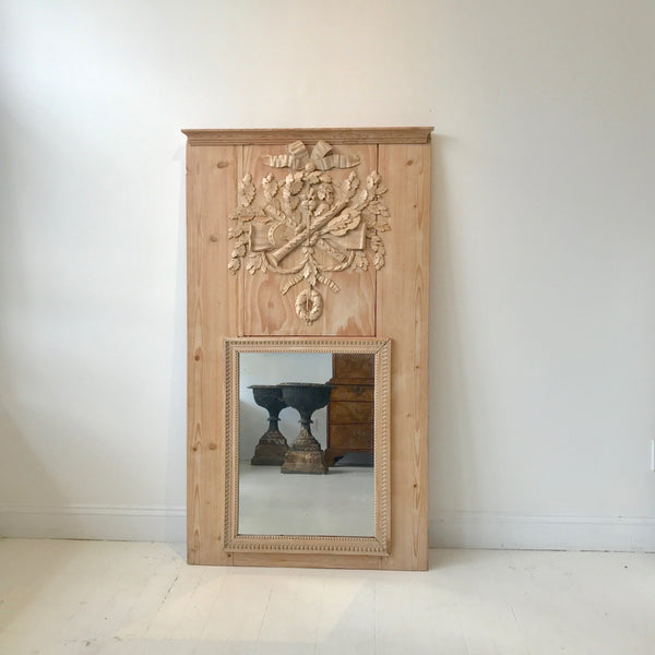 French Natural Wood Mirror