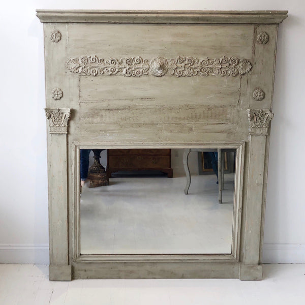 Painted Trumeau Mirror
