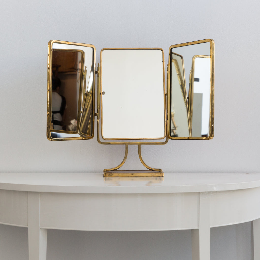 Brass Three Way Mirror
