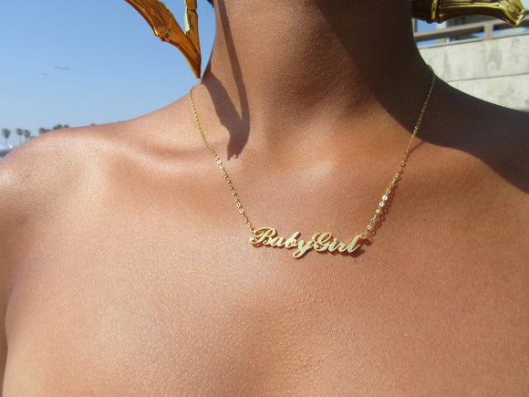 Babygirl 2'' Necklace