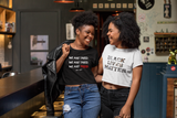 BLM College Lettered Crop Top