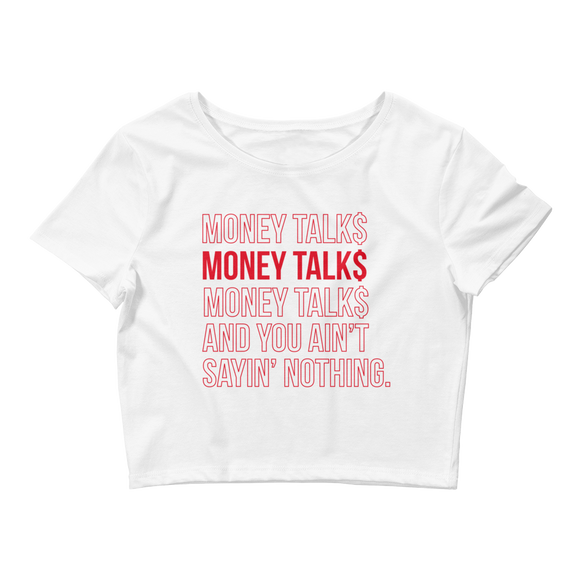 Money Talk$ Crop Top