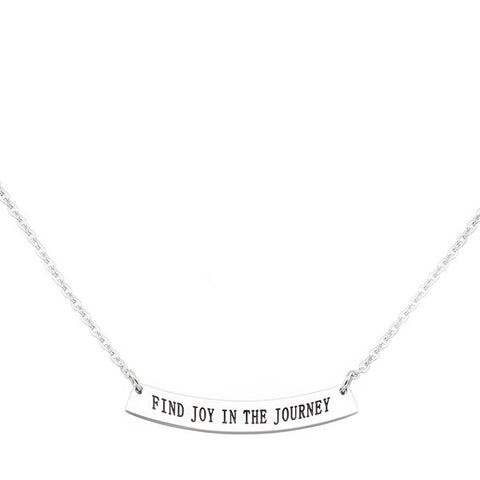 Find Joy In The Journey Stainless Steel Necklace