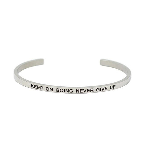 Keep On Going Stainless Steel Bracelet