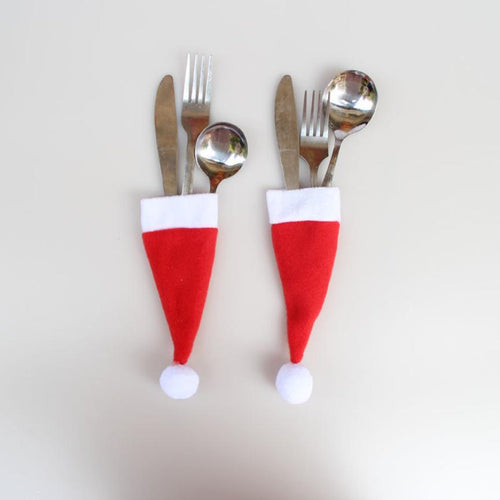 Santa Hat Cutlery Cover