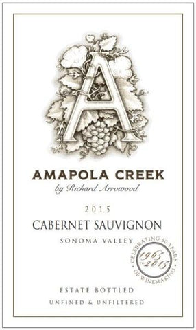 Amapola Creek Estate Cabernet Sauvignon 2015 - 750ml