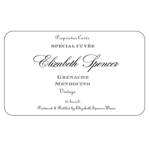 Elizabeth Spencer Grenache 2018 - 750ml