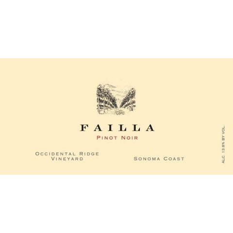 Failla Occidental Ridge Pinot Noir 2018 - 750ml