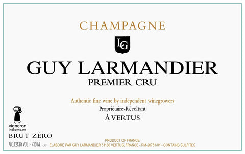 "Guy Larmandier Vertus ""Brut Zero"" 1er Cru Brut - 750ml"