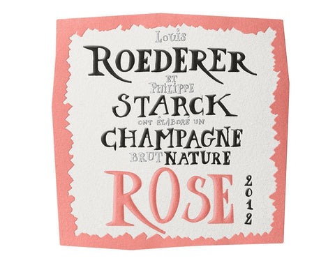 Louis Roederer et Starck Brut Nature Rose 2012 - 750ml