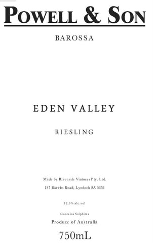 Powell & Son Eden Valley Riesling 2018 - 750ml