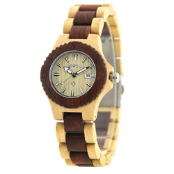 Handmade Wooden Watch for Women -  Maple and Red
