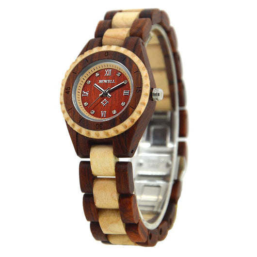 Lightweight Wood Watch for Ladies - Red and Maple