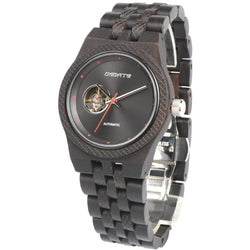 Automatic Wooden Wristwatch for Men - Black