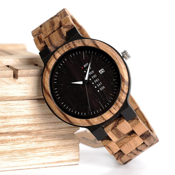 Exquisite Handmade Wood Watch For Men