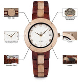 EXQUISITE HANDMADE WOODEN WATCH FOR WOMEN