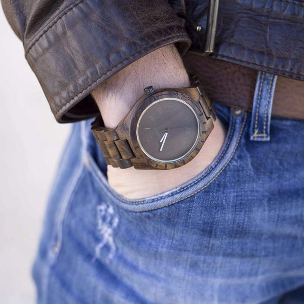 AUTHENTIC HANDMADE UWOOD NATURAL WOODEN WRISTWATCH FOR MEN