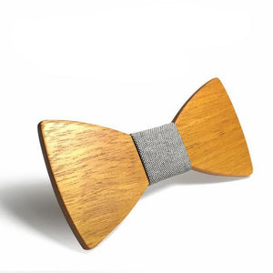 Stylish Wooden Bowtie with Pattern