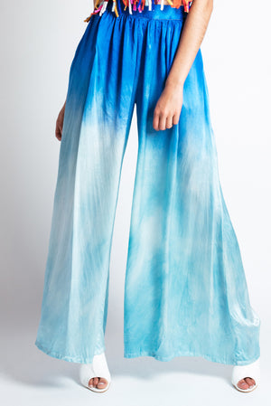 Dirona Palazzo Pant in Blue-Mint Ombre