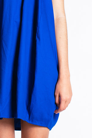 noctiluca day dress in blue detail - Carley Rose The Label