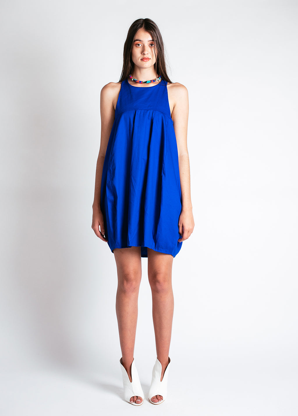 noctiluca day dress in blue - Carley Rose The Label