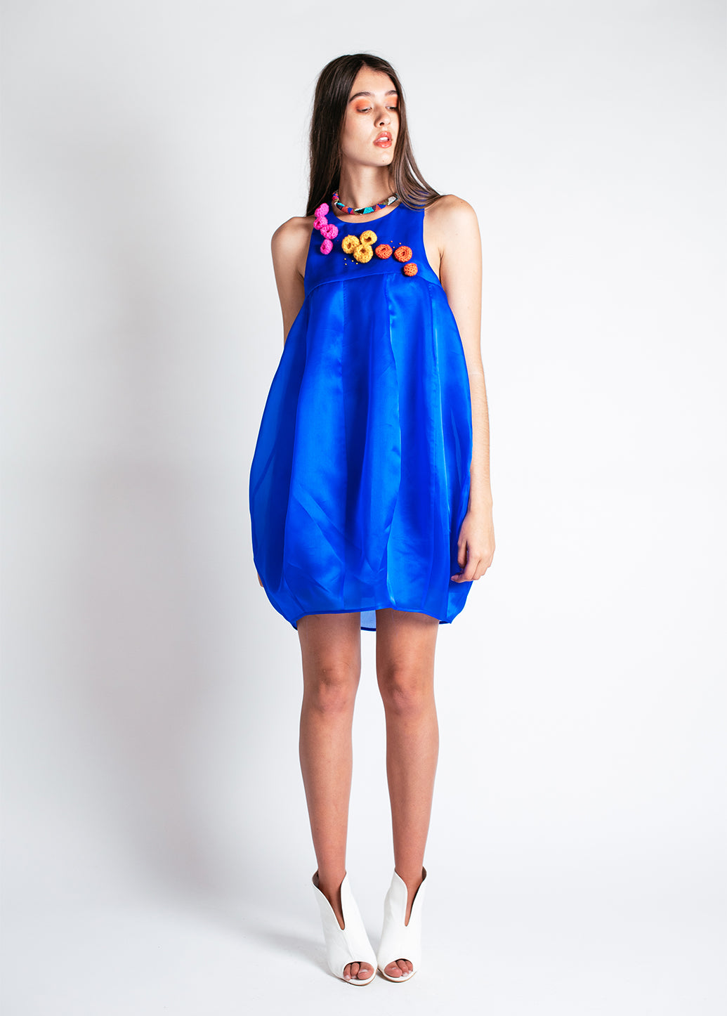 Noctiluca Cocktail Dress in Electric Blue