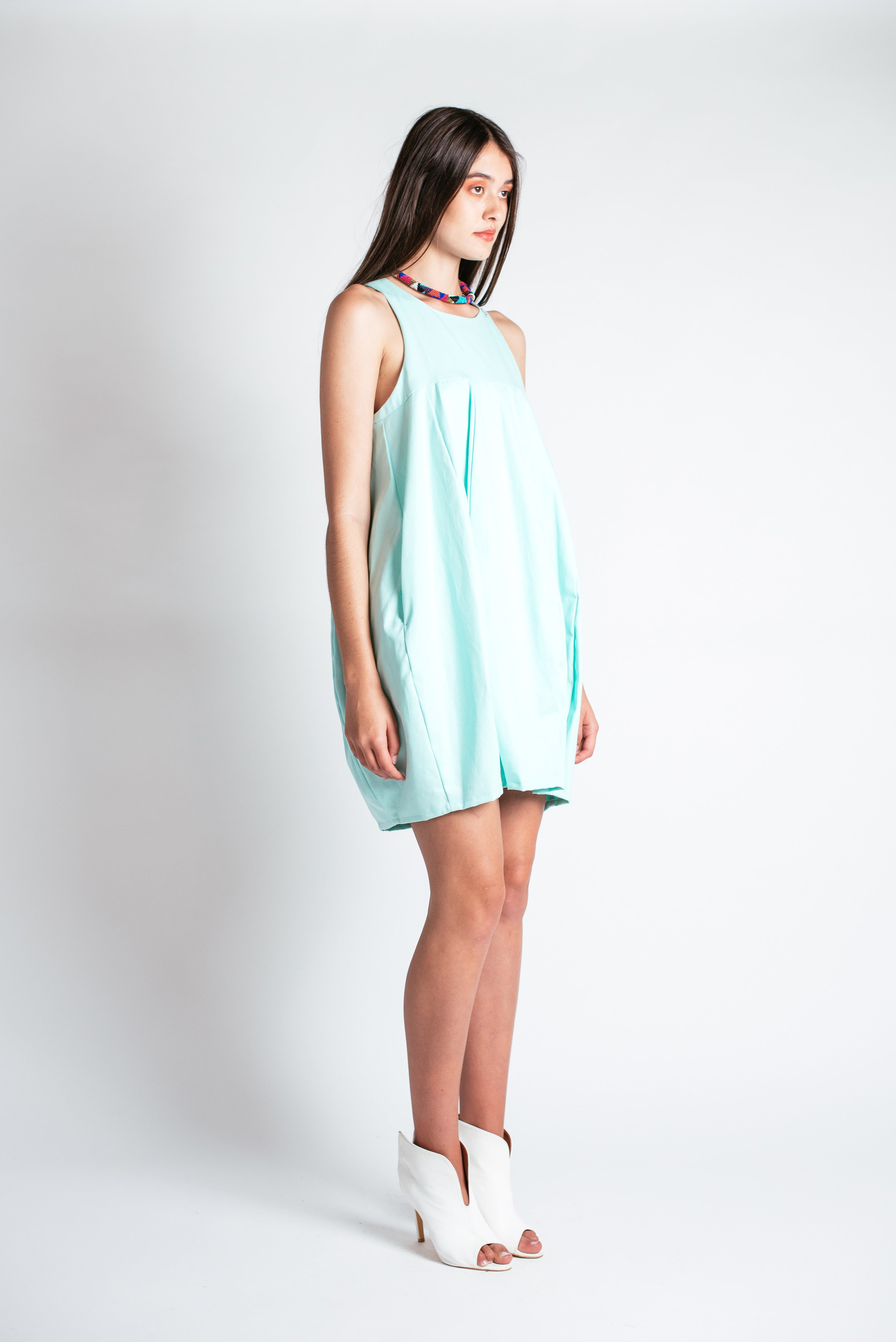 Noctiluca Day Dress in Mint