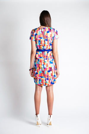 Weave Print T-shirt Dress (Sample Sale)