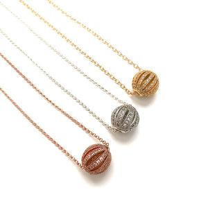 Pave Ball Necklace