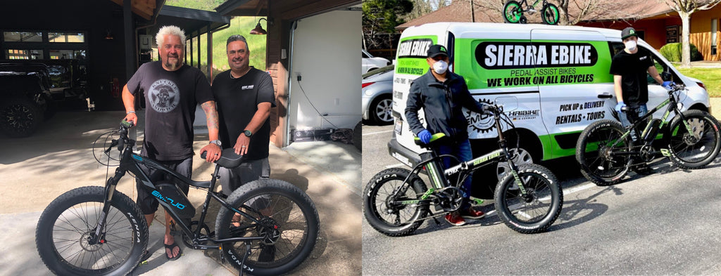 Dion Reif and Guy Fieri Sierra EBikes