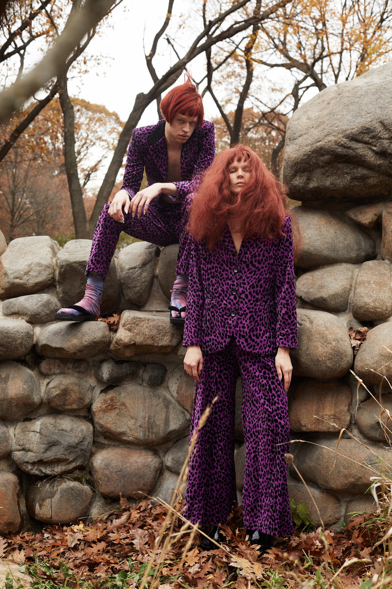Purple Leopard Men's Pant