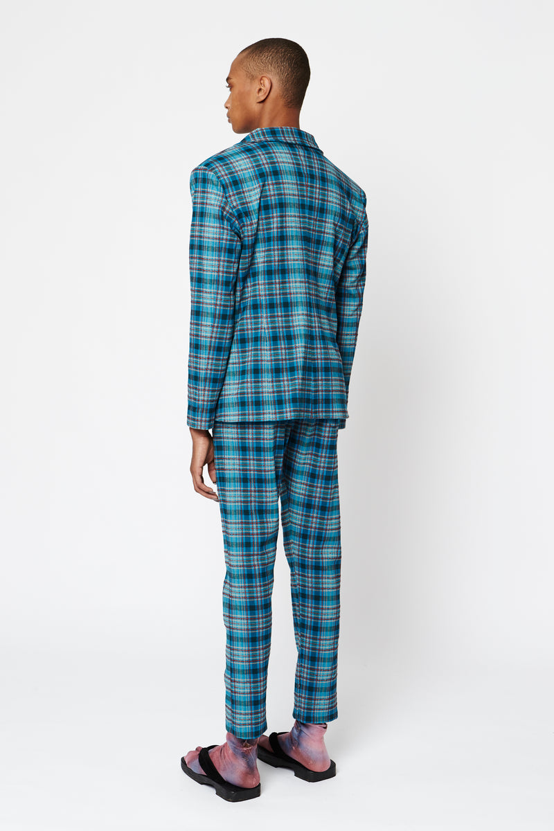 Blue Tartan Men's Pants
