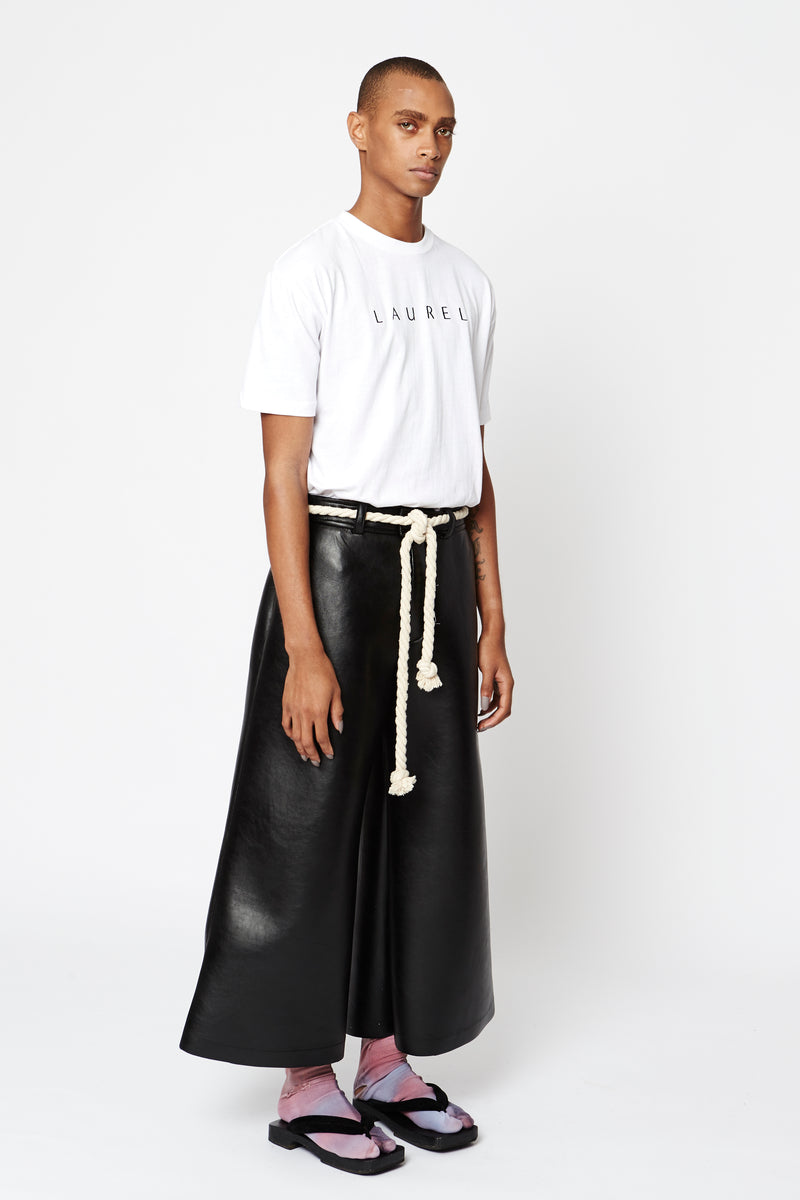Vinyl Wide Leg Pants - More Colors