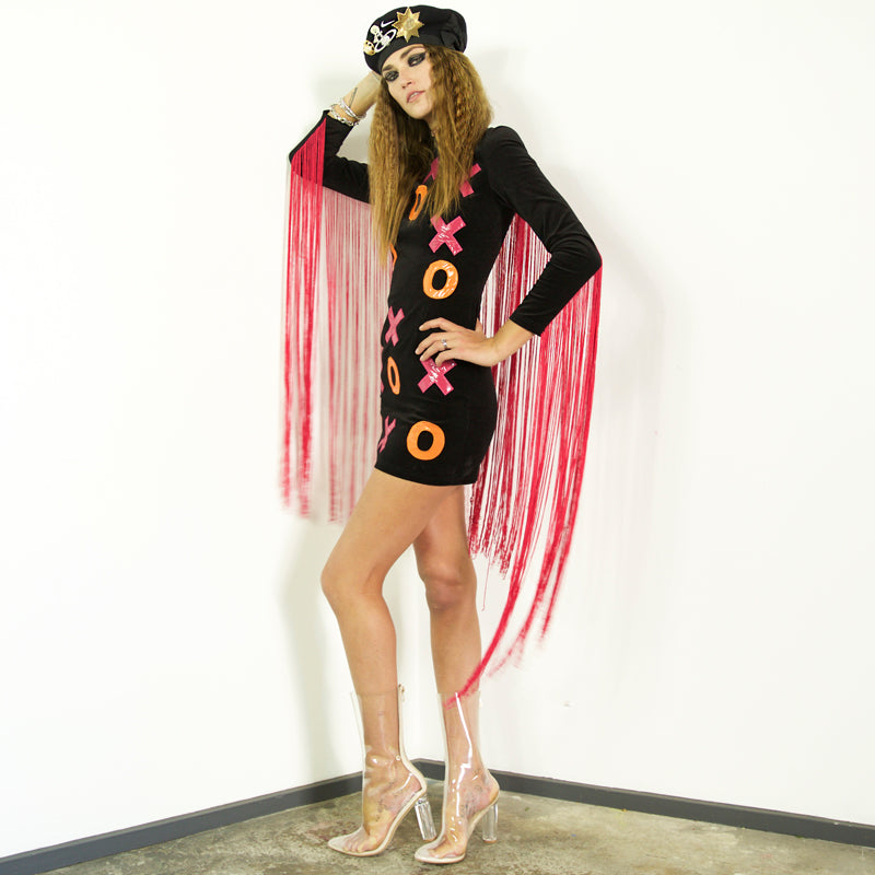 XOXO Fringed Dress