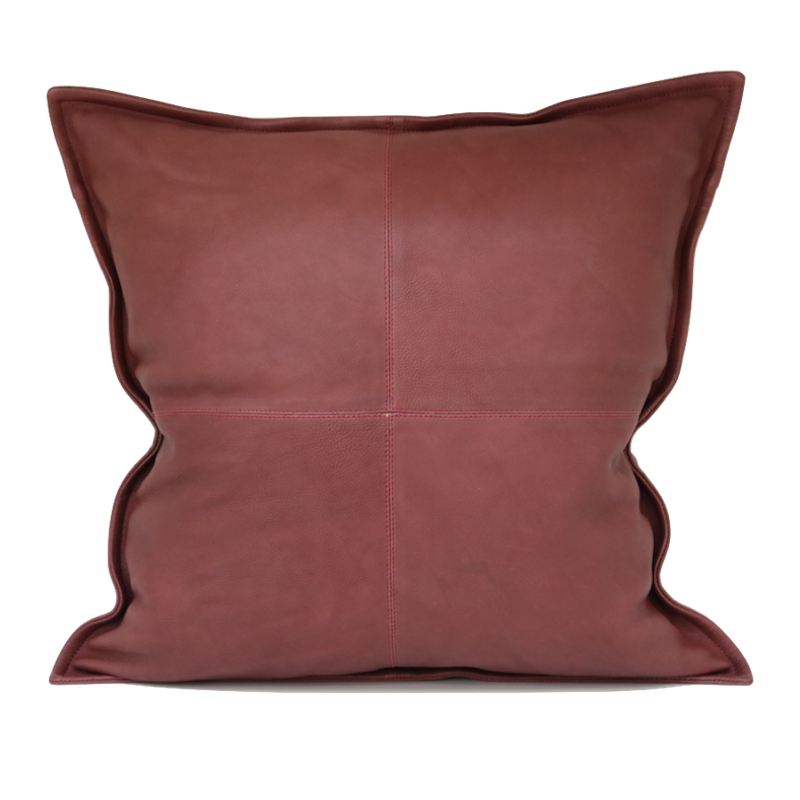 Cross Stitch Leather Cushion