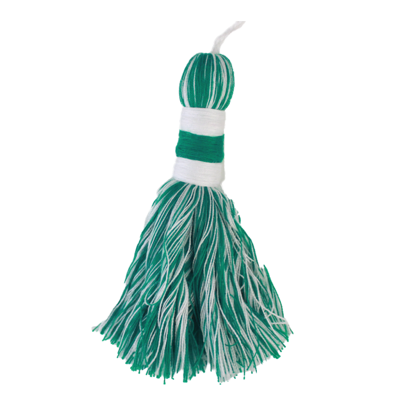 Erin Green & Natural Tassel