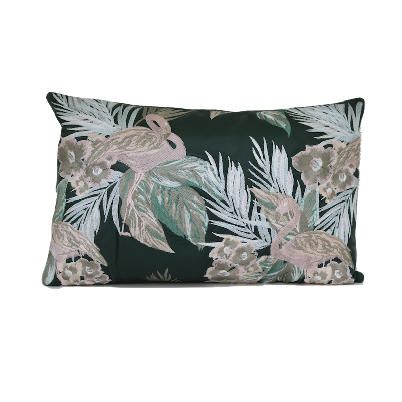 Flamingo Leather Cushion
