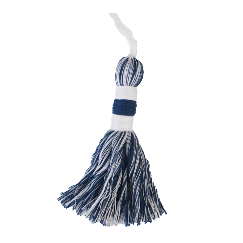 Marine Blue & Natural Tassel